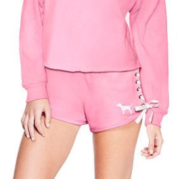 b038e795f New Victoria s Secret PINK Lace-Up Short Cupid